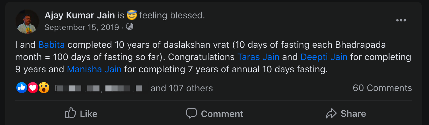 10 years of Daslakshan Parv completed