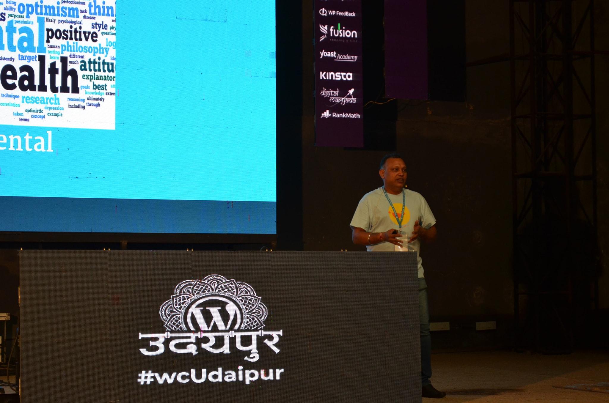Wordcamp Udaipur 2019 Ajay Speaking